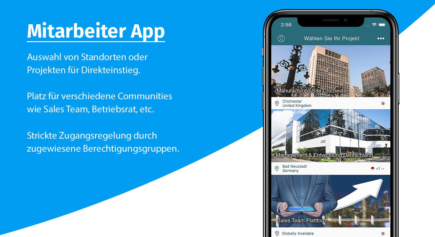 mitarbeiter app projektliste
