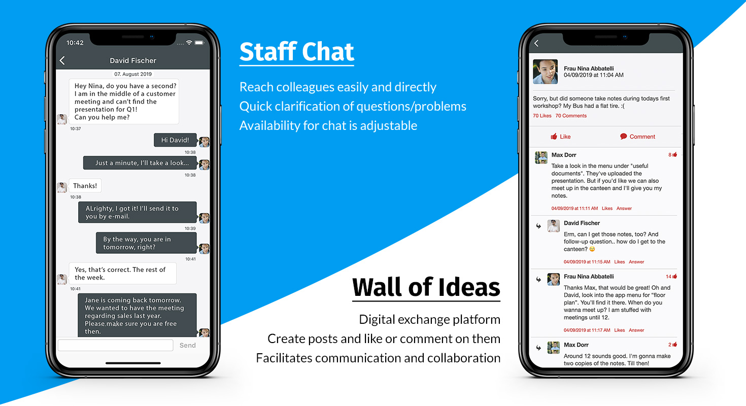 employee app facilitate communication