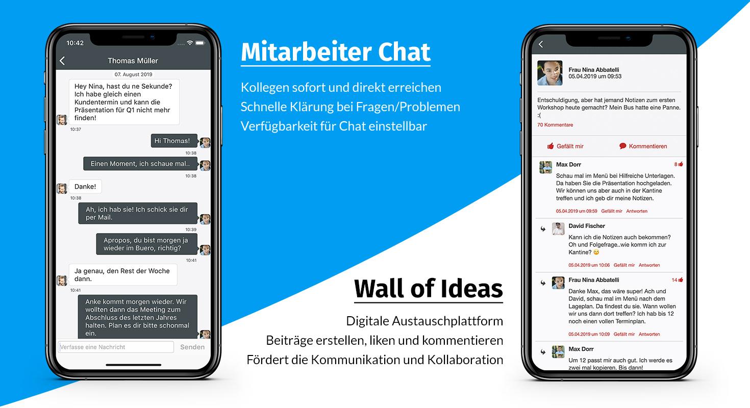 mitarbeiter app - kommunikation verbessern