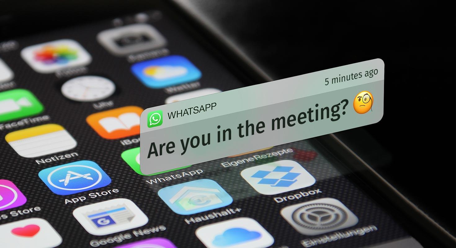 internal communication with whatsapp